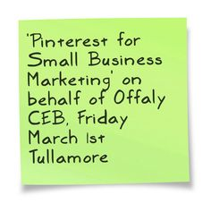 Don't miss out on this half day workshop regarding how to use Pinterest to promote your SME effectively online!