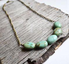 Image via We Heart It https://weheartit.com/entry/119419571/via/27986427 #jewelry #mint #summer #turquoise #bohostyle #layeringnecklace #nuggetstones
