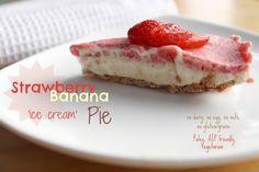 Easy Strawberry Banana 'Ice Cream' Pie