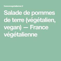 Salade de pommes de terre (végétalien, vegan) — France végétalienne