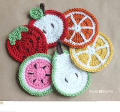 Crochet_Fruit_Coasters_Pattern.pdf free crochet pattern
