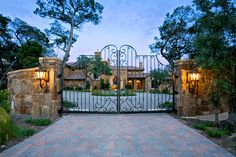 Iron Gates: Wrought Iron Gate,  Driveway & Entrance
