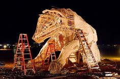 Burner/artist working on a art install out in the deep playa. :') #burningman #art #travel