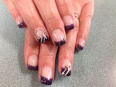 Nikki's nails. Purple gel nails.
