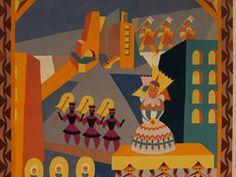 """Depero, Fortunato. (1920). """"Il corteo della gran bambola"""". [Pintura]."""