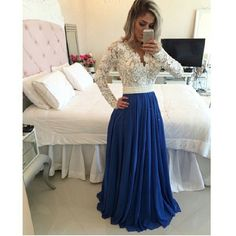 Beaded Lace Bodies Sexy Long Evening Dress with Long Sleeves Wedding Party Gown in Clothes, Shoes & Accessories, Wedding & Formal Occasion, Bridesmaids' & Formal Dresses | eBay!