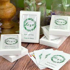 Make your wedding day game playing personal with these standard size coated playing cards personalized with your choice of wedding design and two lines of custom print in 11 foil imprint color options. Add a deck of cards to hotel welcome bags to complete your custom look or use them as the perfect favor that entertains by placing a deck at each place setting, or stack them on your favor table for easy access. Wedding Favours Playing Cards, Wedding Gift Bags, Wedding Cards, Wedding Favors, Custom Printed Playing Cards, Personalized Playing Cards, Block Lettering, Foil Stamping, Deck Of Cards