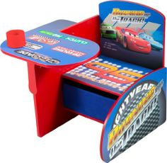 Disney Cars Chair Desk with Pull out under the Seat Storage Bin by Delta Enterprise, http://www.amazon.com/dp/B001GSO79A/ref=cm_sw_r_pi_dp_4CTtsb1RKDXQA