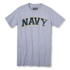 Men's Navy T-Shirt - Grey