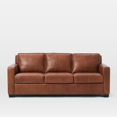 Henry® Leather Sofa - Tobacco | west elm
