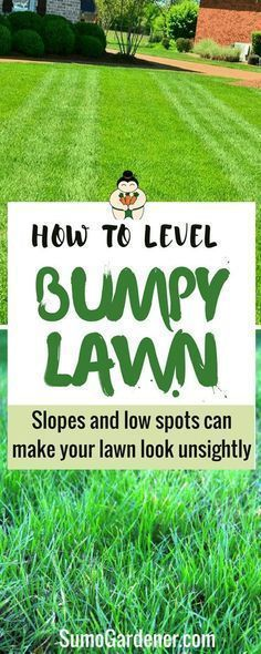 How to level a bumpy lawn. leveling a bumpy lawn does not always require professional help. Except for problems with the water pipes and the overall drainage system, you can address the issues on your own.