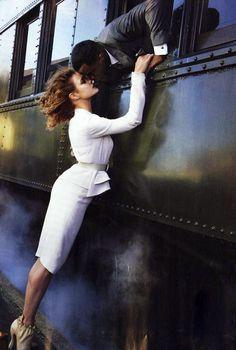 Natalia Vodianova for Vogue October 2014 // romantic photography