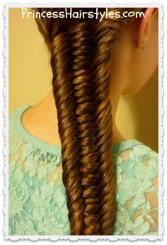 3 strand fishtail braid tutorial