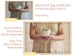 Painted wallpaper tutorial by Source of Joy Creations