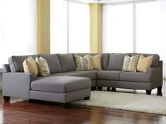 Ashley Grey Couch With Chaise. Grey Sectional With Chaise Costco Grey Sectional Ideas . Furniture: Amazing Oversized Sofa For Living Room Design . Cuddler Sectional, Sectional Sofa With Chaise, Living Room Sectional, Sofa Set, White Sectional, Gray Sofa, Couch Sofa, Couches, Chicago Furniture