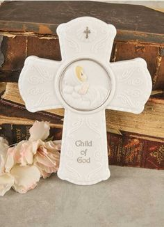 Color: white/silver tone accentsPorcelain night light measures approximately x Child of God (silver tone)Cord-mounted on/off switch For decorative purposes onlyImported