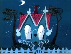 "Mary Blair concept art for ""The Little House"" - 1952 Disney short"