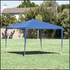 Outdoor Canopy Shelter 10x10 Blue Patio Backyard Shade Cover Steel Fabric US $79.51#OutdoorCanopyShelter & Outdoor Canopy Gazebo Shelter 12x10 Backyard Patio Furniture Shade ...