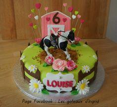 """Horse cake Cree par : """" Les gateaux d Ingrid """" ( facebook"""