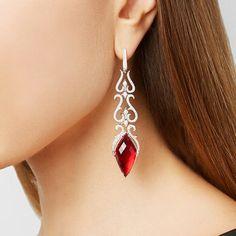 Stephen Webster - La Belle Epoque White Gold Multi-stone Earrings - one size Stone Earrings, Dangle Earrings, Diamond Jewelry, Diamond Earrings, Art Nouveau Ring, Luxury Jewelry, Ear Piercings, Jewelery, Fine Jewelry