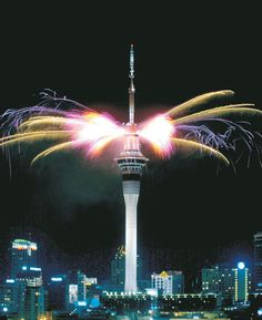 Skytower Auckland!! New Years celebration :DDD