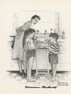 Mother With Children Kitchen