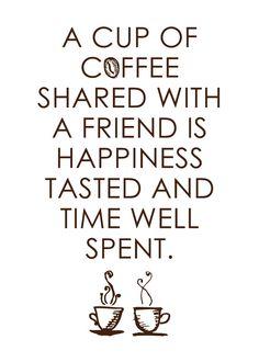 ☆Chamar amigos para um café.