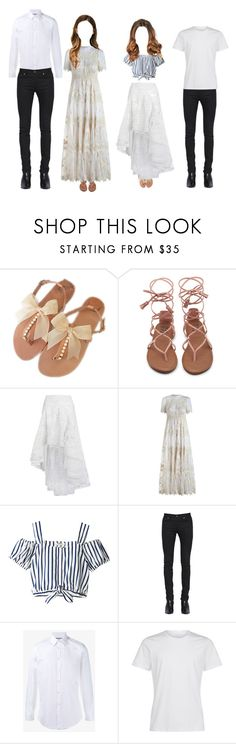 """""""- ACE 'Summer Love' Group Scene"""" by official-ace ❤ liked on Polyvore featuring Zimmermann, Yves Saint Laurent and Gucci"""