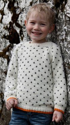 A cheerful little boy sweater pattern. Knitting For Kids, Crochet For Kids, Knitting Yarn, Knitting Projects, Baby Knitting, Knit Crochet, Knitting Patterns Free, Knit Patterns, Baby Barn