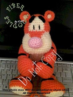 INSTANT DOWNLOAD : KISS Series Bounce the Tiger Crochet