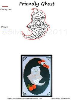 Friendly Ghost on Craftsuprint designed by Silvia Griffin - Cute little fellow for all your kids and grand kids for Halloween. - Now available for download!