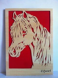 Cuadro de madera Caballo. Personalizado con por Planetasierra, €24.99