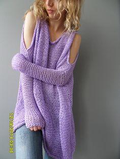 Jersey de mujer grueso tamaño. /Loose por RoseUniqueStyle en Etsy