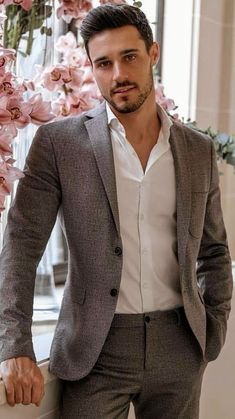 Latest Mens Fashion, Mens Fashion Suits, Mens Suits, Fashion Outfits, Sharp Dressed Man, Well Dressed Men, Cute White Guys, Costume Sexy, Hommes Sexy