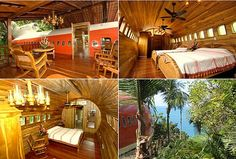 Hotel Costa Verde 727 Fuselaje (Costa Rica)  Este pintoresco hotel incluye una suite exclusiva de dos dormitorios, integrada en el fuselaje reconvertido de un Boeing 727 en plena selva de Costa Rica.