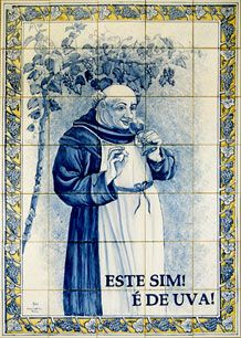 """Portuguese humor... The monk: """"Oh, yes. And it's grape..."""""""