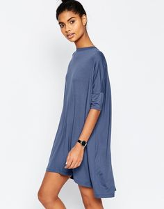 This seriously cozy t-shirt dress. | 48 Cheap Dresses That Will Get You Excited For Spring