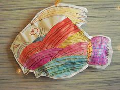 a faithful attempt: Big Puffy Fish (stuffed paper fish: symmetry, patterns, etc.)