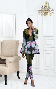 """Ella and Gabby is a Nigerian fashion label that celebrates Beauty, Boldness, Class and Pride of a Woman in the detailed and simplified art of sophistication headed byAda Mgbudem. Their """"Trop…"""