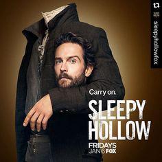 #Repost @sleepyhollowfox (via @repostapp)・・・The new #SleepyHollow key art will make your head spin! Dont miss the premiere January 6. #tommison #ichabodcrane #headless #dontloseyourhead #season4