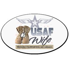 Euro+Style+Oval+Stickers%0D%0AUSAF+Wife+supporting+my+airman.+%244.00+www.militaryprideshop.com