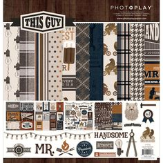 Photo Play 12x12 Paper Kit This Guy by PNWCrafts on Etsy