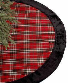 Holiday Lane Plaid Christmas Tree Skirt - Holiday Lane - Macy's