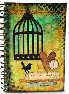 Art Journal video tutorial - Lost Time is Never Found Again (Marjie Kemper)