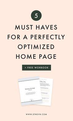 Optimized Home Page | blog design | web design layout | website design | WordPress design | Squarespace design | newsletter tips | blogging tips | entrepreneur tips