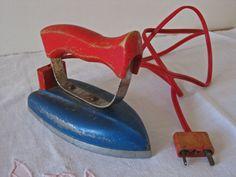 French childs toy iron. via Etsy.
