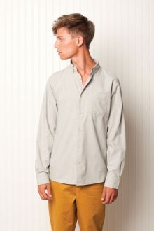 """LUCKY MAN  100% cotton oxford, L/S classic fit button up. """"I aint no fortunate son.""""  $79.99"""