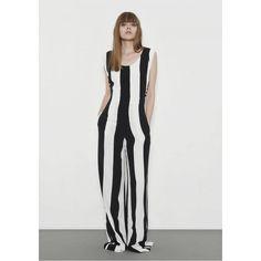 Fête Impériale Emile Jumpsuit ($543) ❤ liked on Polyvore featuring jumpsuits, stripe, jump suit, playsuit romper, stripe romper, striped jumpsuit and romper jumpsuit