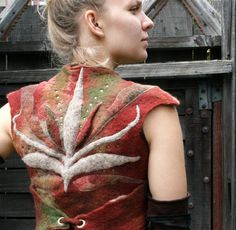 Nuno-felted wool vest The Bold Elf Insignia Vest