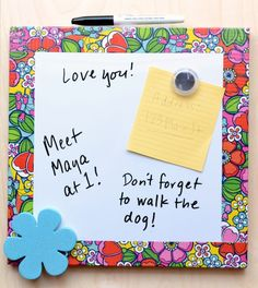 Use Duck Tape to decorate a dry erase board for back to school